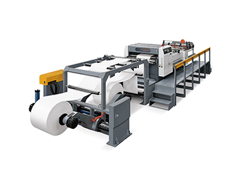 High Speed Servo Controlled Paper Roll Rotary Sheeter Machine With 2 Rolls